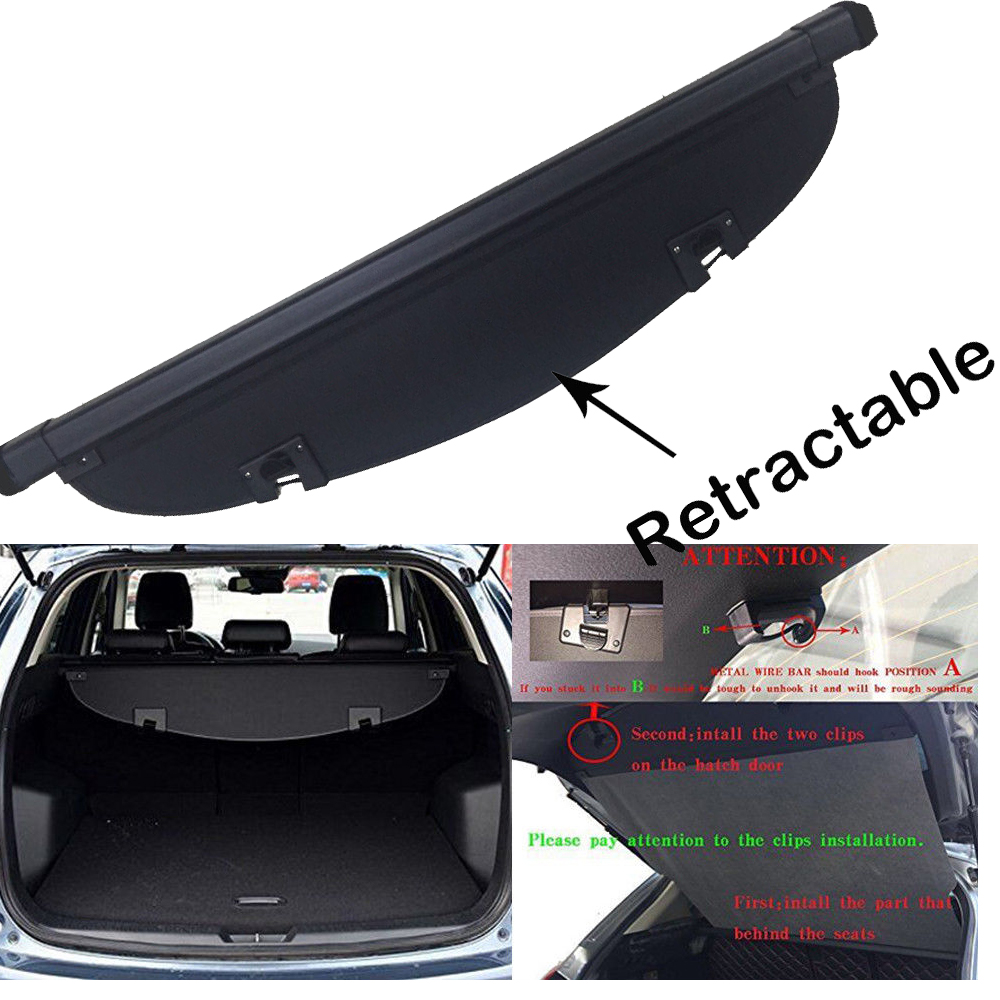 Beige Luggage/&Baggage Privacy//Security//Safety Protecter Juntu Retractable Rear Trunk Cargo Cover//Trunk Organizers//Trunk Shielding Shade for 08-15 BMW X5