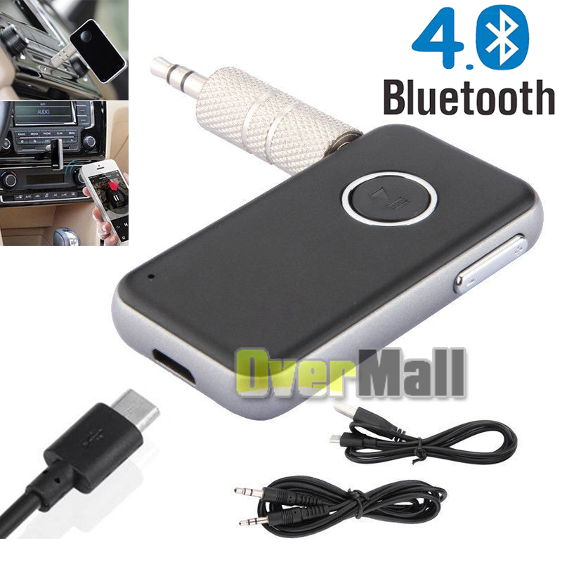 Details about A2DP Bluetooth4 0 Receiver Wireless Home Audio Music Adapter  3 5mm Car Kits