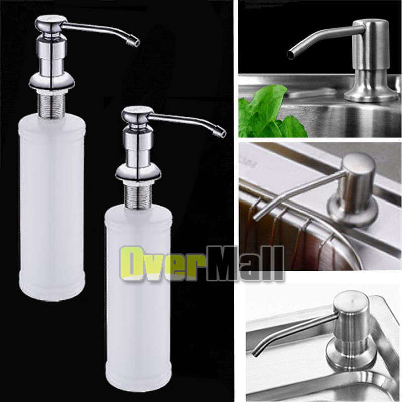 Details About 2 X 350ml Soap Dispenser Kitchen Sink Faucet Bathroom Shower Lotion Shampoo Pump