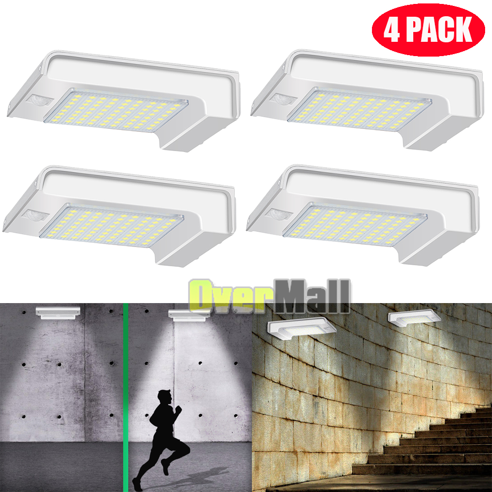 Outdoor 72 COB LED Solar Wall Light PIR Motion Sensor Garden Lamp Walkway Light