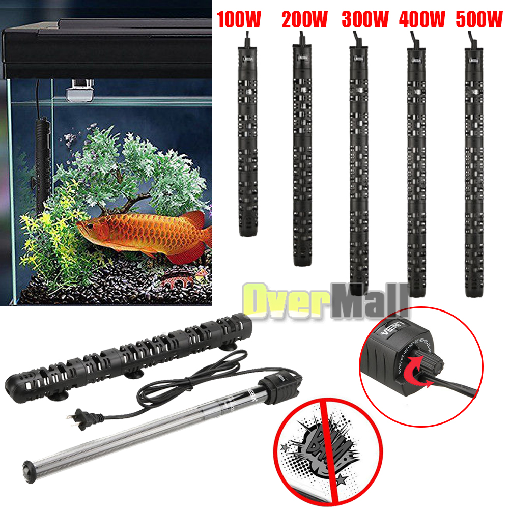 Details About 100w 500w Aquarium Heater Anti Explosion Submersible Fish Tank Water Adjule