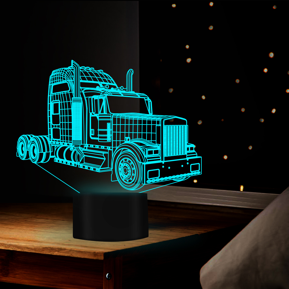 4fc3d9ed Big Truck 3D Night Light 7 Colors Change Bedside Lamp Birthday Gifts Cars  Trucks