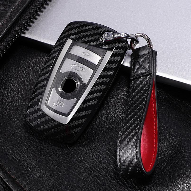 Leather Key fob Holder Case Chain Cover For BMW F20 F21 F22 F25 F26 F16 F80 F01