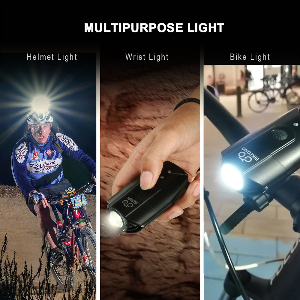 2000 Lumens Bike Front Light BICYCLE USB Rechargeable Super Bright LED Headlight