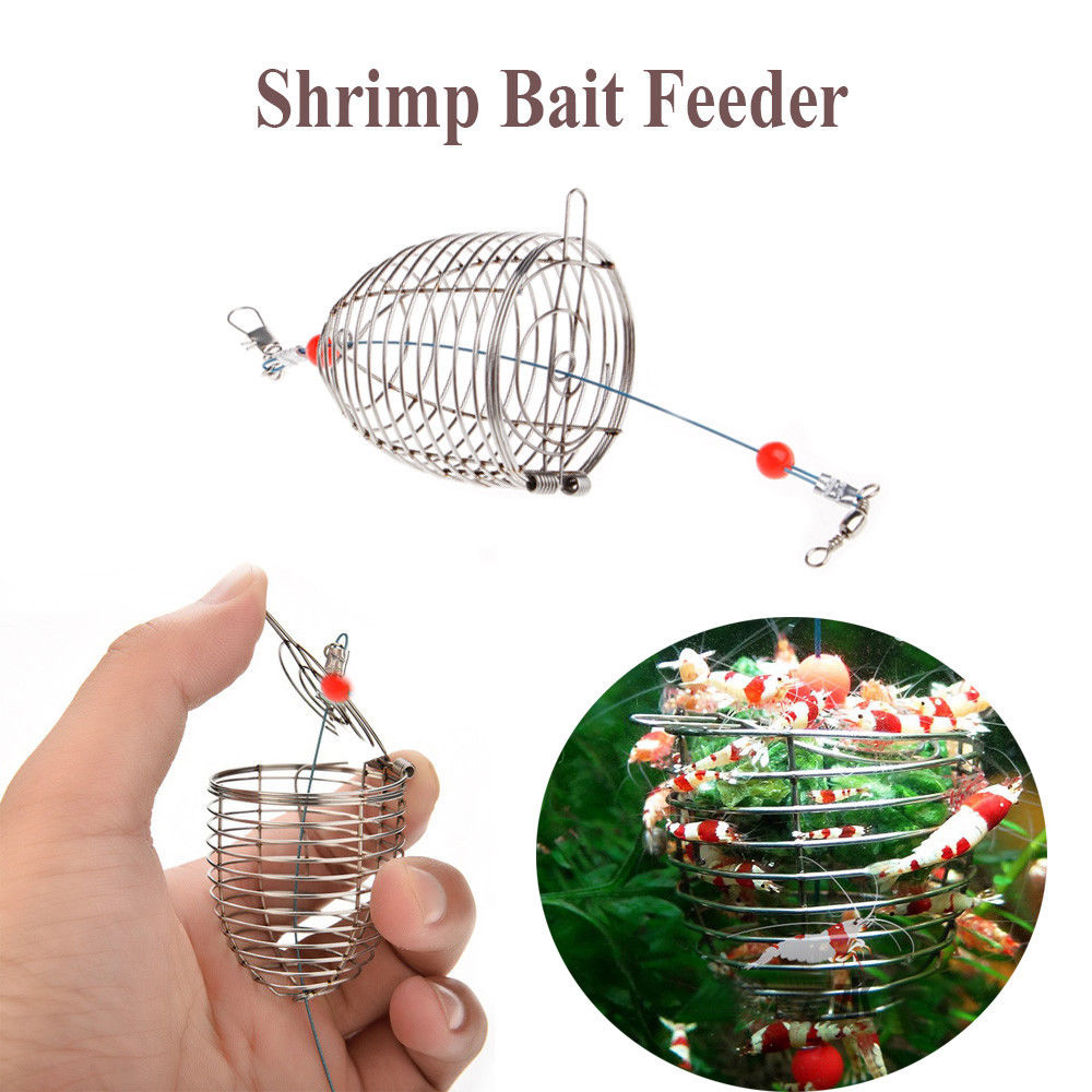 Durable In Line Wire Bait Trap Cage Fishing Feeder Carp Fishing Tackle Cage