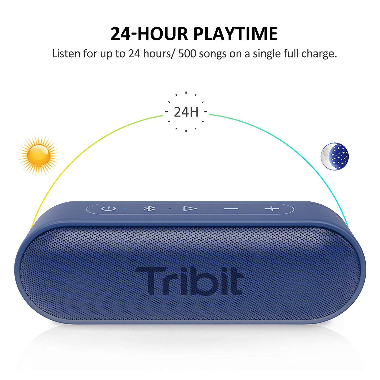 Tribit XSound Go Portable Bluetooth Speaker with Superior Loud Sound IPX7--Blue