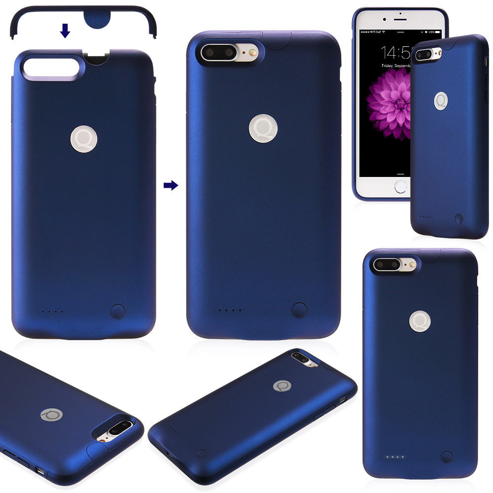 buy popular a1e56 a64f0 Details about For Apple iPhone 7 Battery Case Rechargeable Charger Portable  Charging Cover