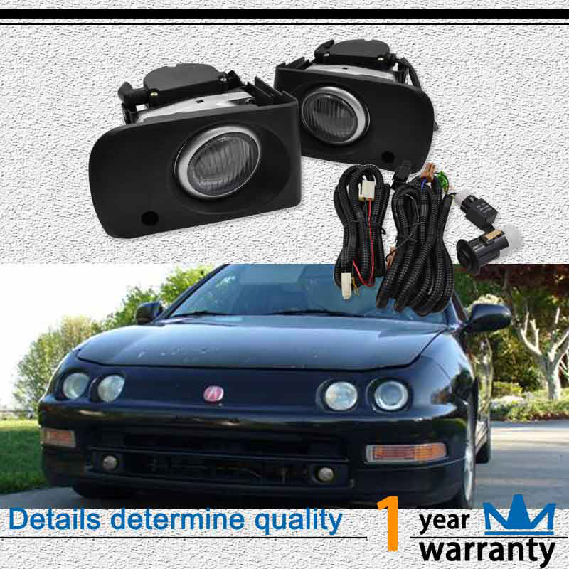 2pcs Left+Right 35W Clear Fog Lights With H3 Bulbs Fit