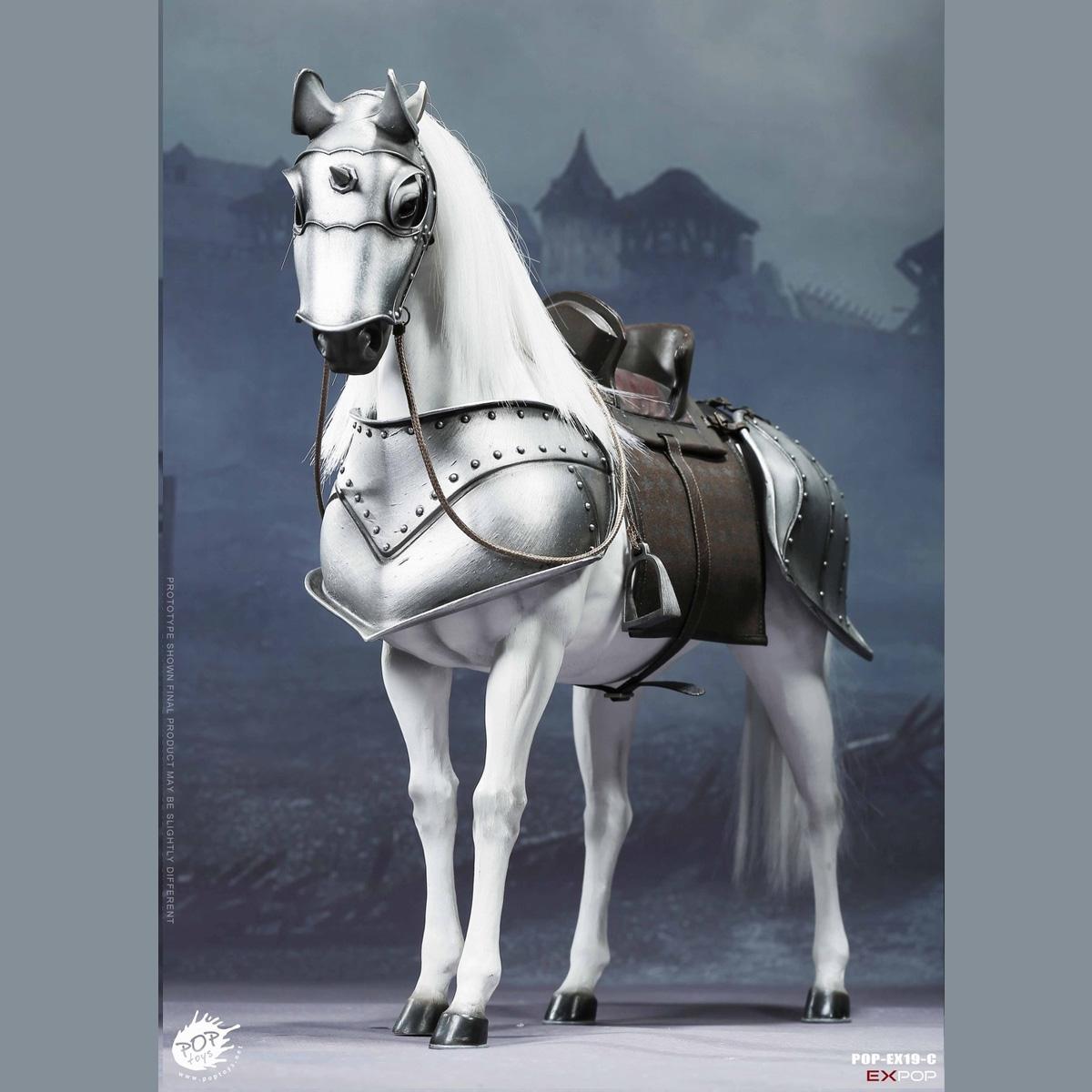 POPTOYS EX19C 1//6 Saint Knight War Horse White Animal Combat Figure Collectible