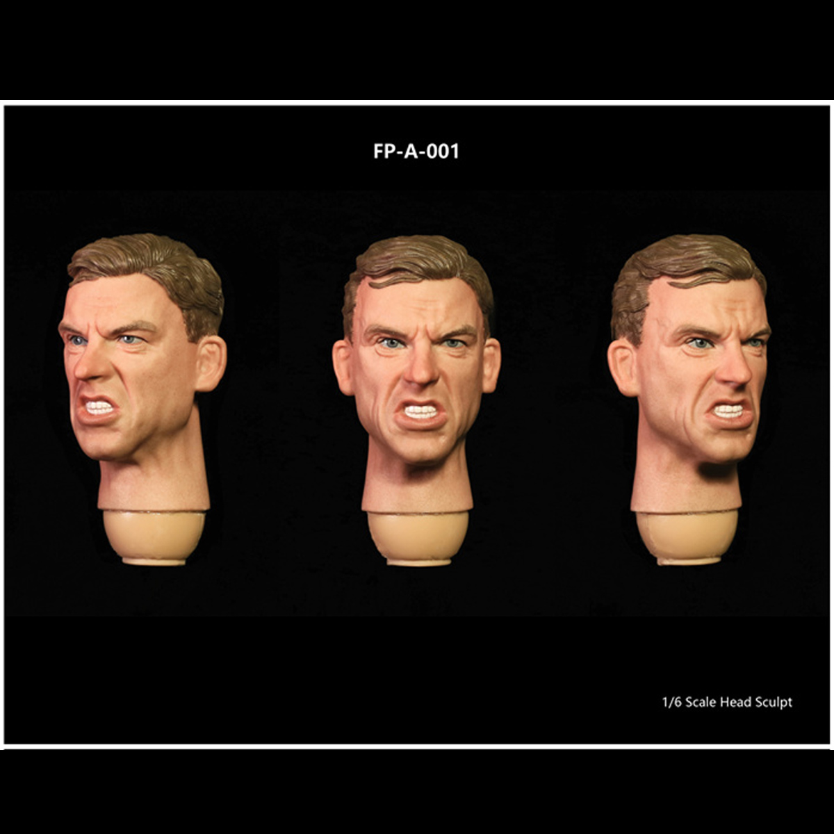 """Facepoolfigure FP-S-001 1//6 Male Head Sculpt For 12/"""" Action Figure Hot Toys Body"""
