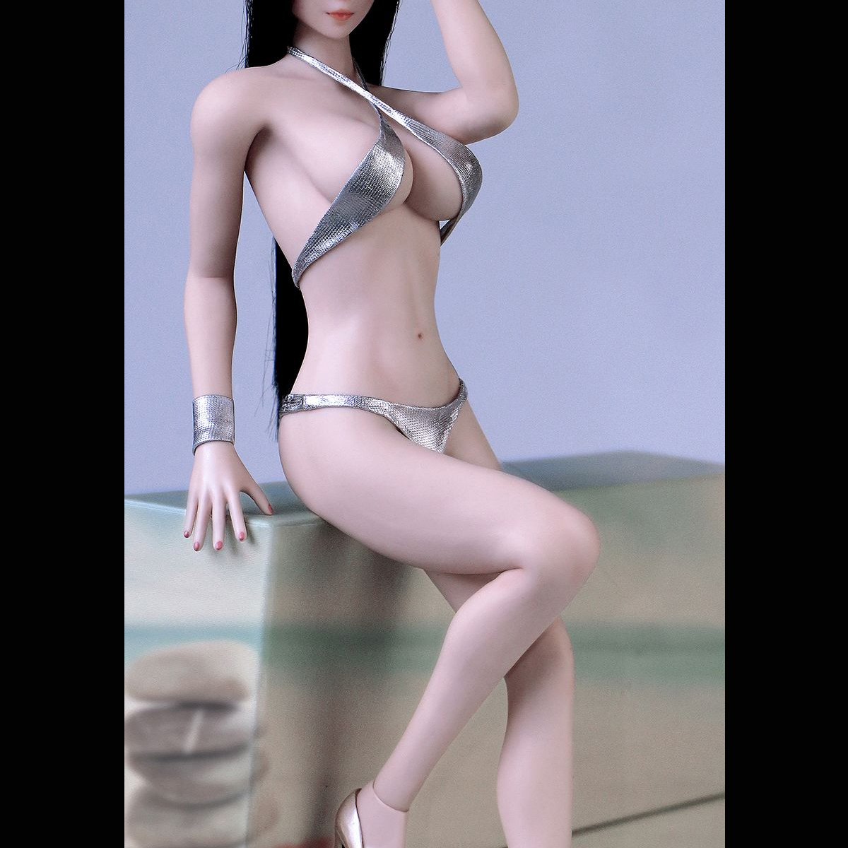 "1//6 Scale Bikini Silver for 12/"" Female PH Action Figure Body"