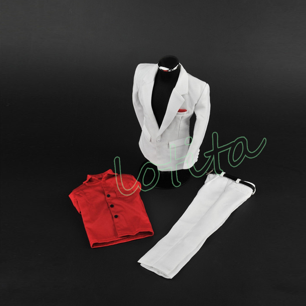 """1//6 Male Clothing Model White Suit Set ZYTOYS Costume For 12/"""" Action Figure Body"""