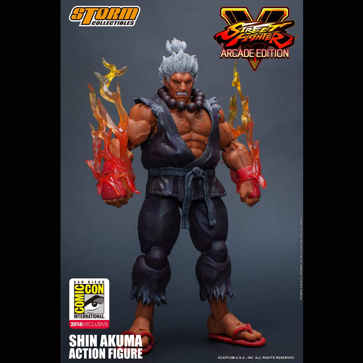 Sdcc Storm Toys 1 12 Street Fighter 5 Akuma Limited White Hair