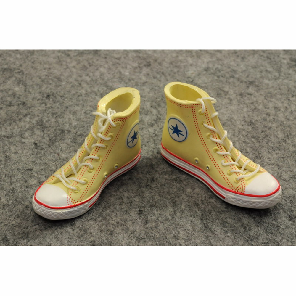 """ZYTOYS-1//6 Scale Female Fashion Shoes Yellow Fit for 12/"""" Action Figure"""