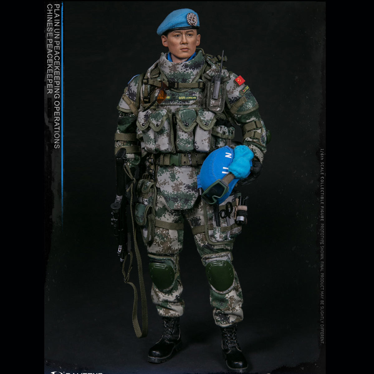 1//6 Scale Flagset Action Figures UN Chinese Peacekepping Elbow Pads