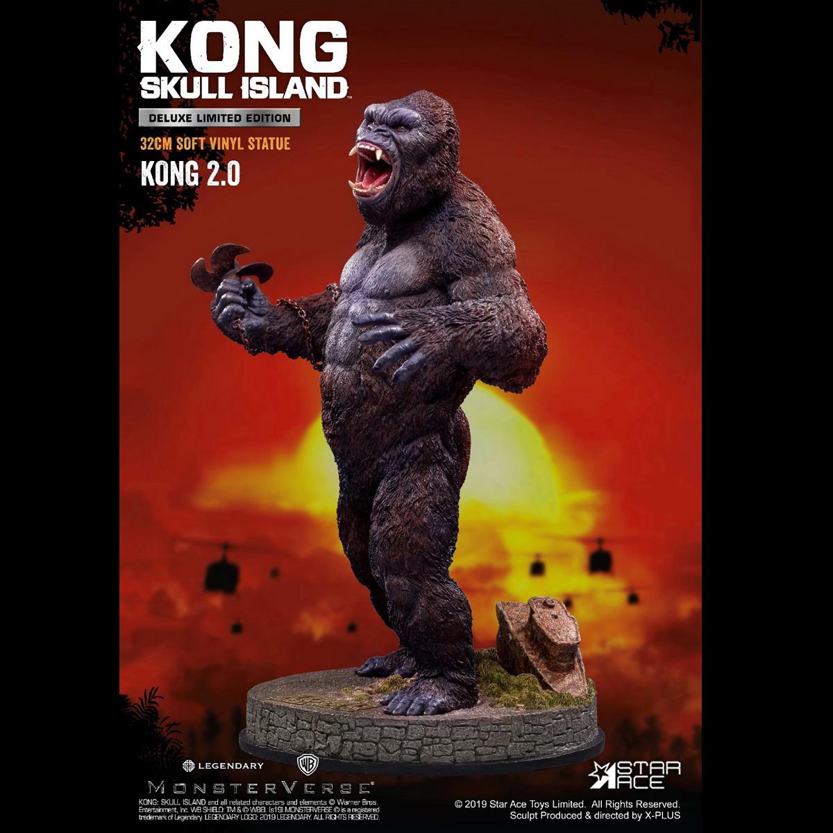 STAR ACE Toys SA9006 Skull Island 32CM Soft Vinyl Statue Kong 2.0 Figure