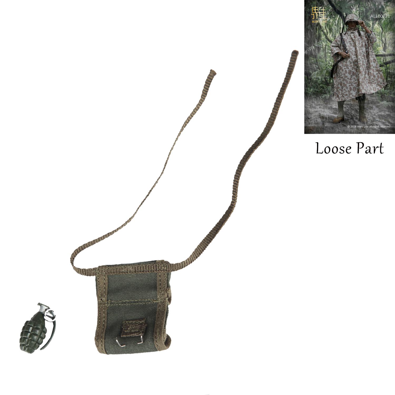 1//6 Scale WWII USMC BAR Gunner Backpack Alert Line Action Figures