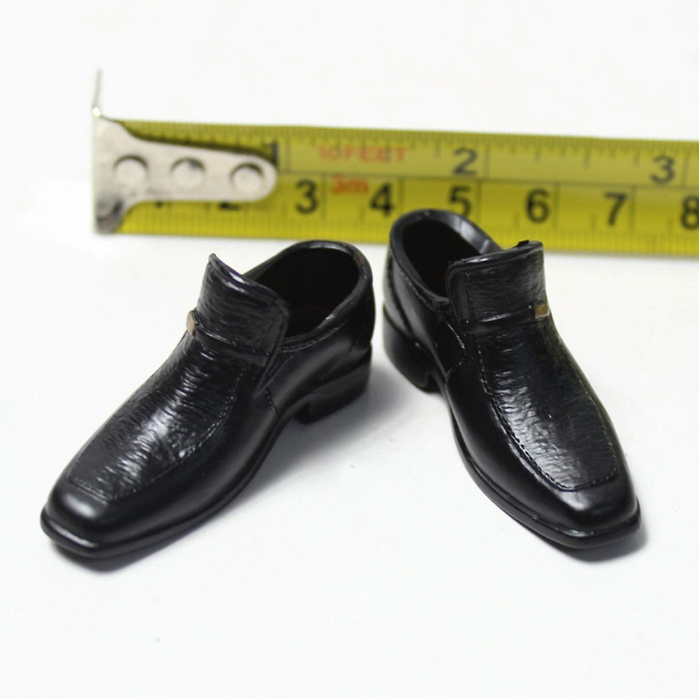 "1//6 Scale Model Black Male Square Head Shoes Fit 12/"" Action Figure Doll Hot Toys"