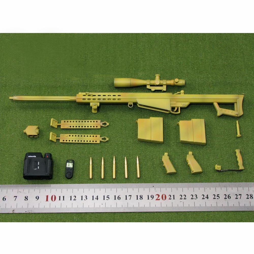 """ZYTOYS 1//6 Scale M82A1 Barrett Sniper Rifle Model Desert for 12/"""" Action Figure"""