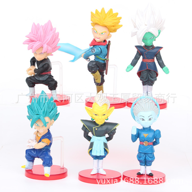 20pce Dragon Ball Z Super Rose God Black Goku Beerus Set Action Figure Model Toy