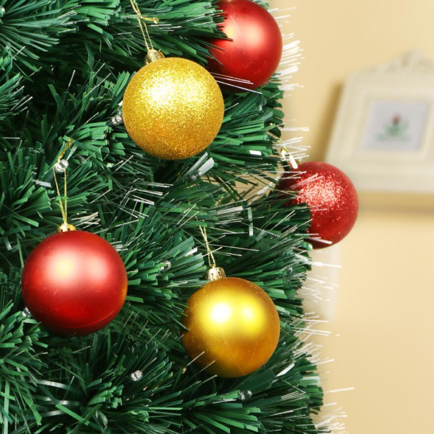 24PCS 30//40//60mm Christmas Tree Balls Decorations Party Baubles Glitter Ornament