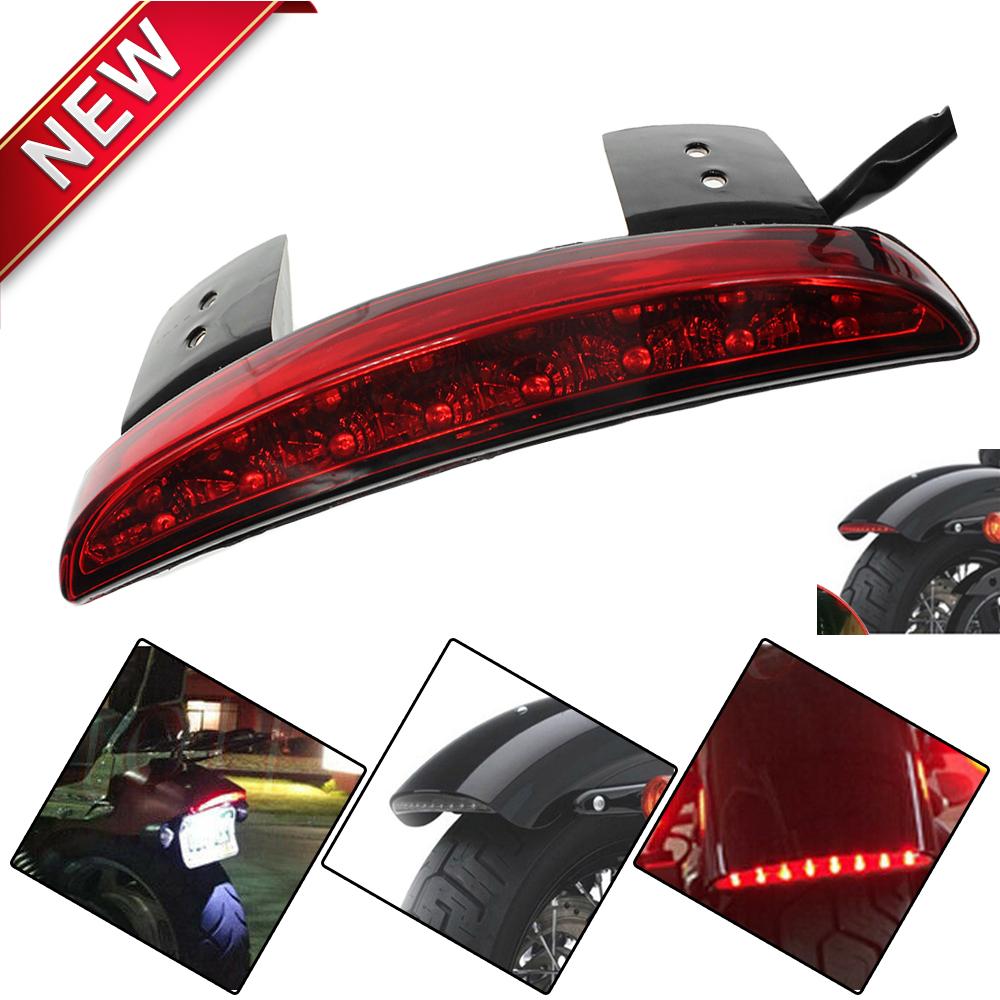 Red Led Fender Edge Turn Signal Tail Light Fits Harley