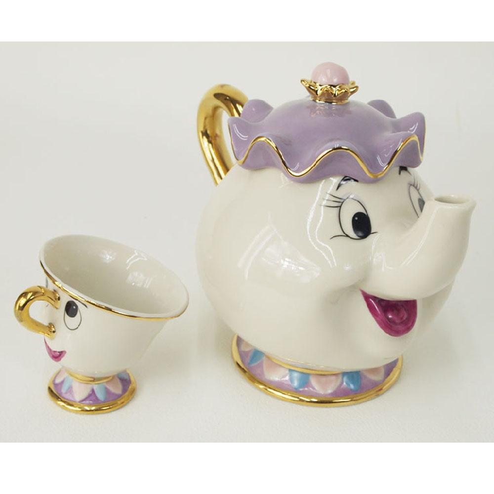 disney beauty and the beast mrs potts chip teapot or cup set teapot mug xmas ebay