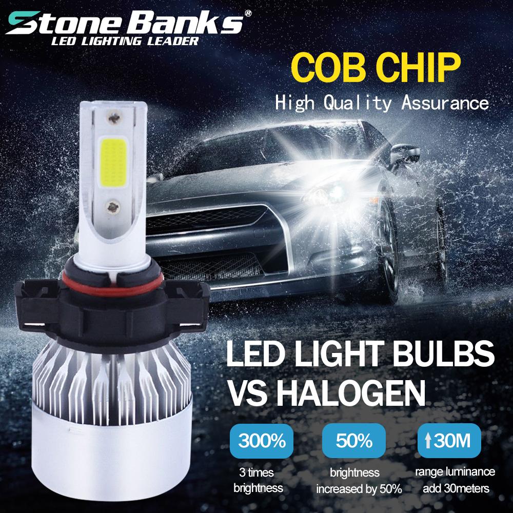 2X Mini EMC 5202 H16 9009 Fog LED Headlight Conversion Bulbs 6000K Super White
