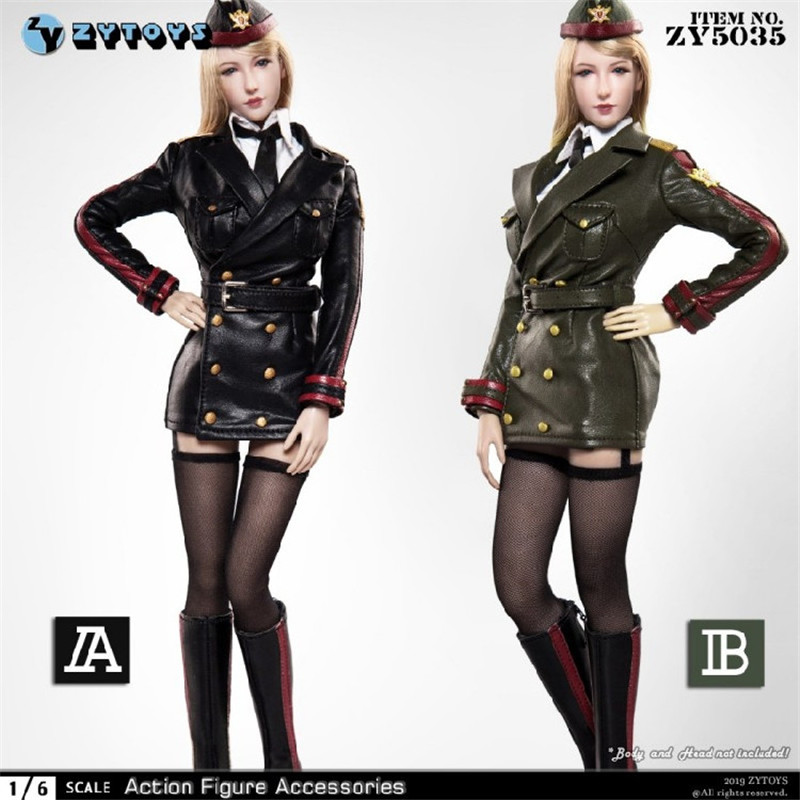 ZYTOYS 1//6 Female Leather Coat ZY5023 Costume Short Pants Clothes Toy No Figure