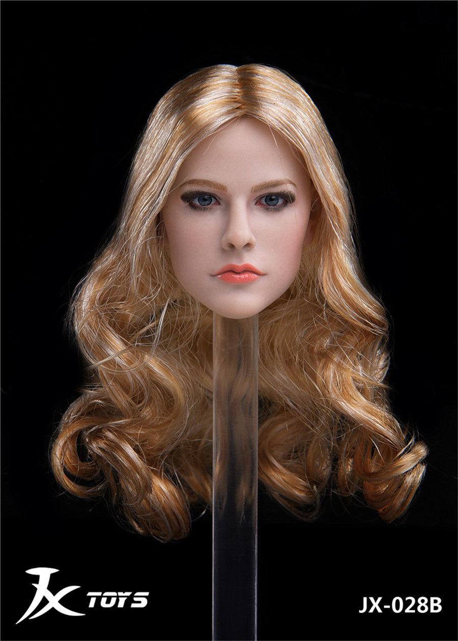 1//6 Canadian singer Avril Ramona Lavigne headplay for Hot Toys body in stock