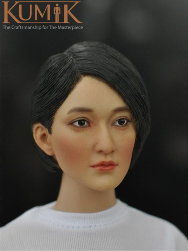 HOT FIGURE TOYS kumik 1//6  KM16-49 Asian female star headplay Custom