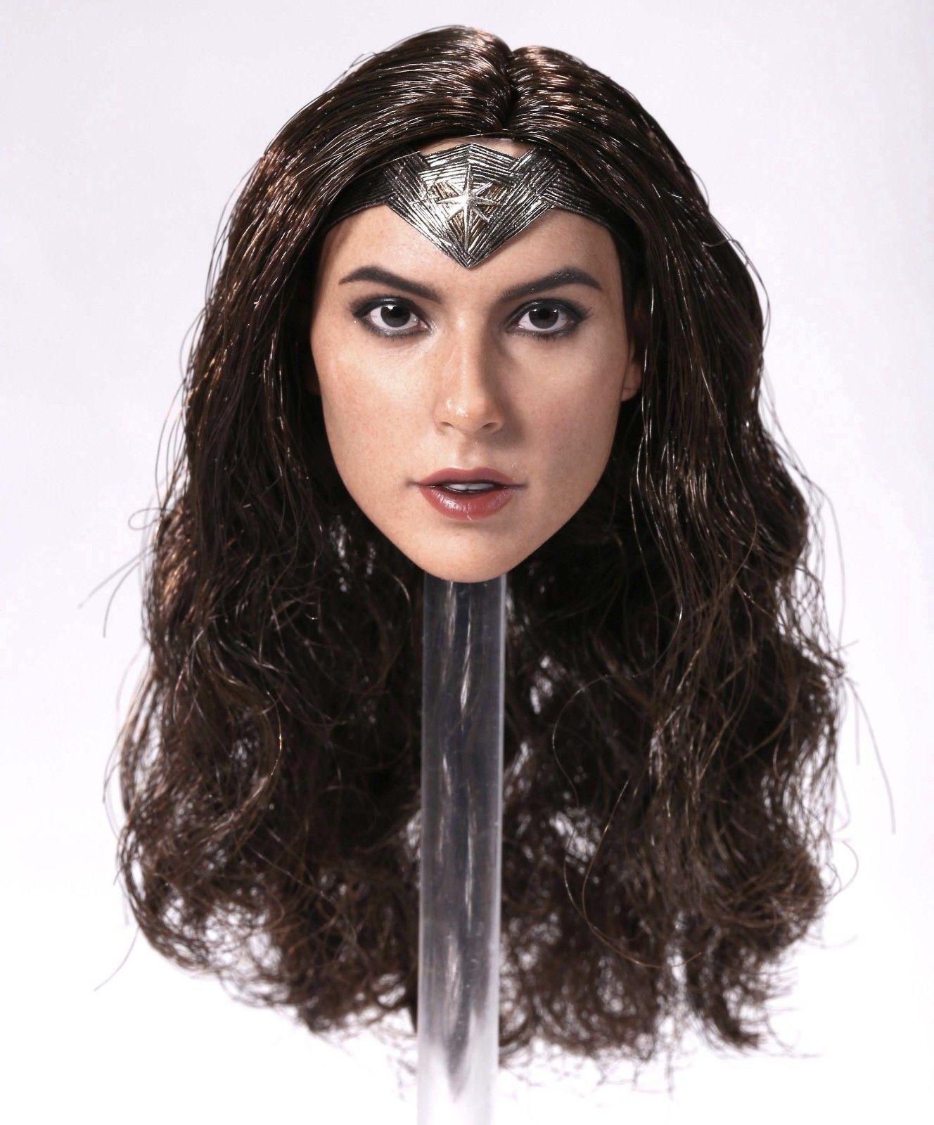 ❶IN STOCK❶ 1//6 Female Head Sculpt A Gal Gadot Wonder Woman in SUNTAN Phicen body