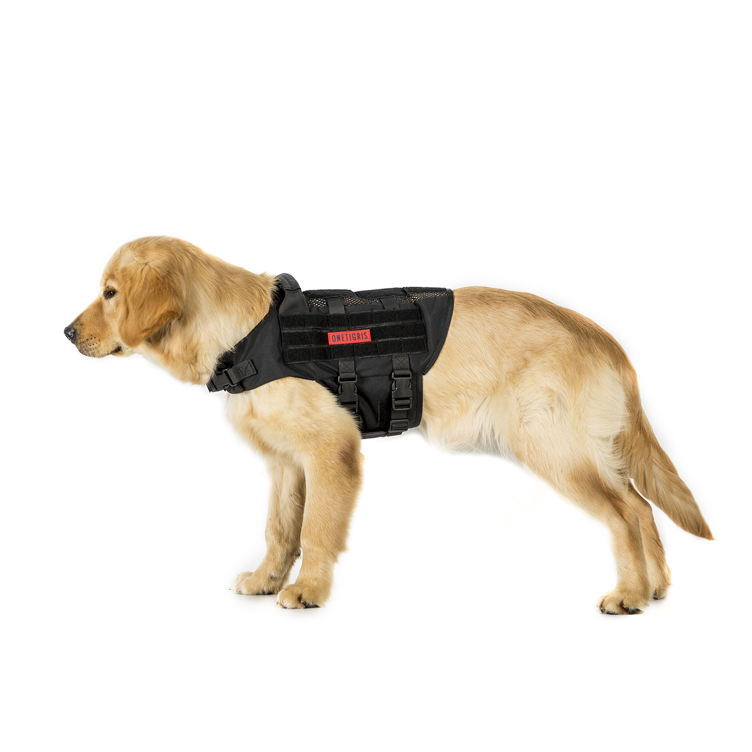 33b0a0f67d847 OneTigris K9 Tactical Dog Harness Patrol Nylon Vest with Adjustable Neck  Strap