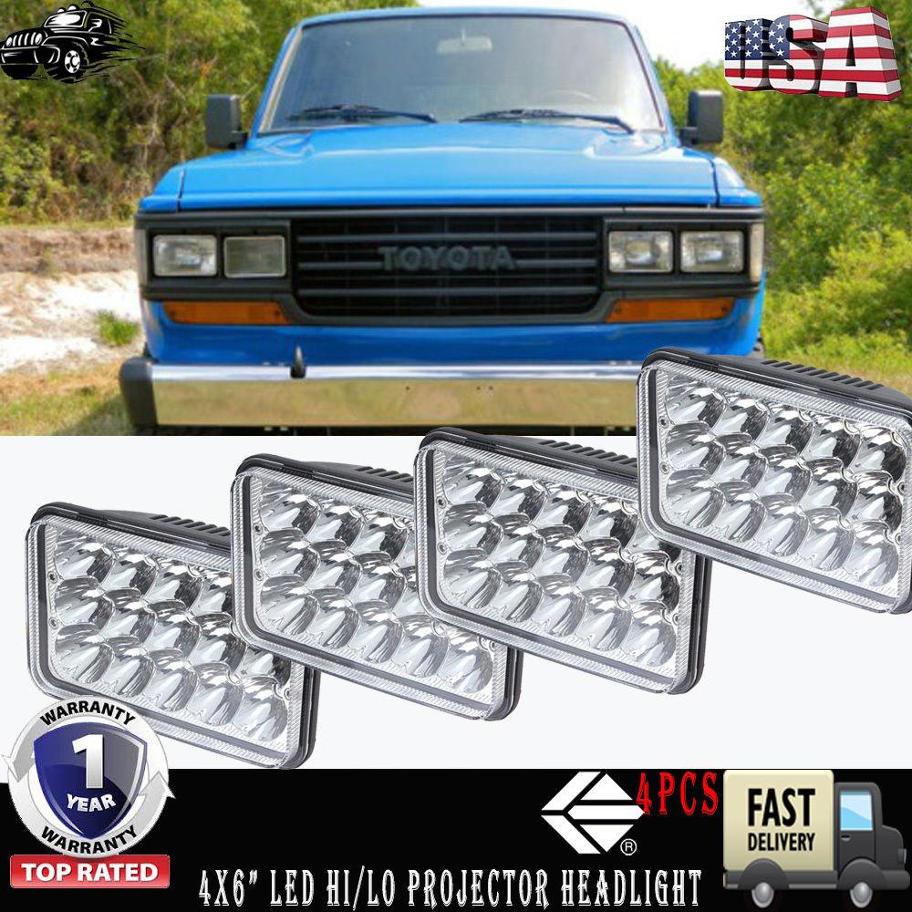 Led Headlight High Low Sealed Beam H4651 H4656 For Toyota Land Cruiser Fj60 4x6 Hi Lo Fit 62