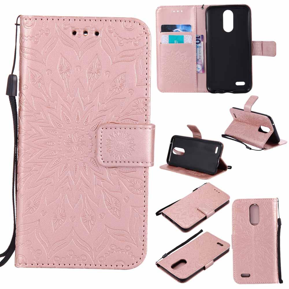 Magnetic Dompet Kartu Leather Case Stand Cover untuk LG K10 2017 LG LV5 .