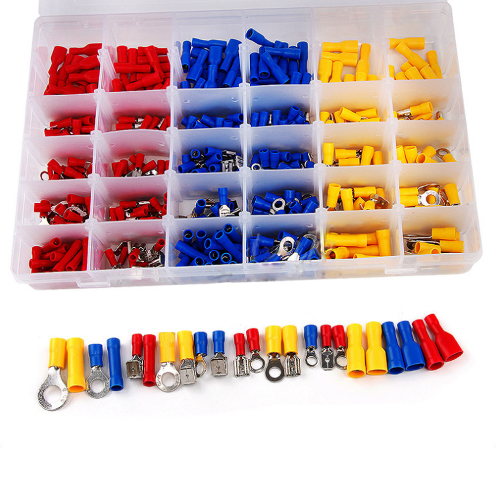 Car 480Pcs Assorted Insulated Electrical Wire Crimp Terminals Connector Butt Set