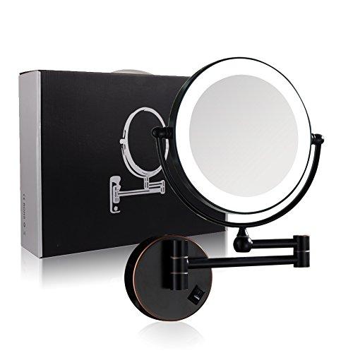 Gurun Rotated Wall Mounted Lighted Makeup Mirror 7x