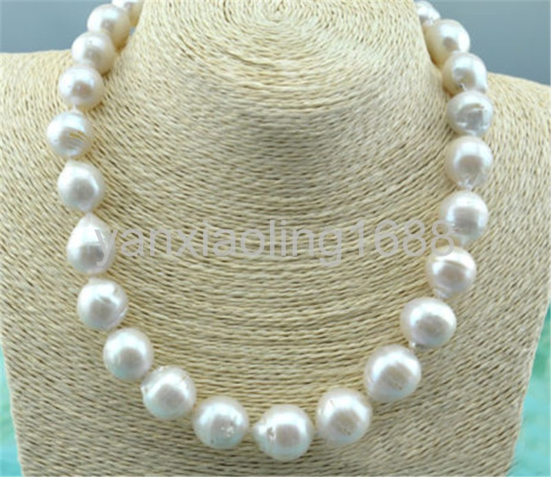 """P6265 33/"""" 12mm Pink Lavender Almost Round Edison Keshi Reborn Pearl Necklace"""