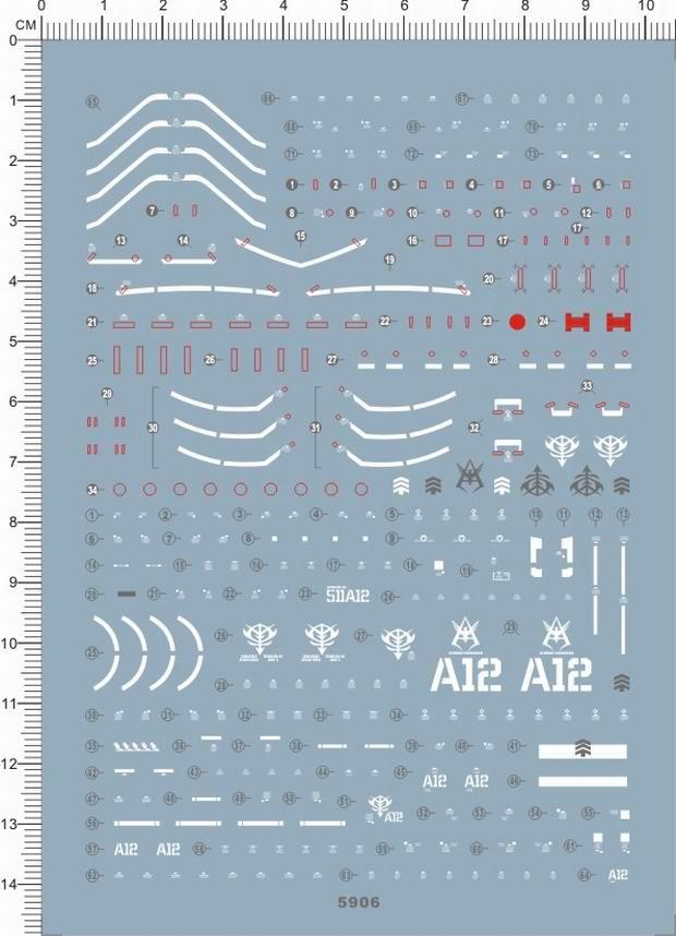Artisan/'s Club RG 1//144 MS-06F Zaku II Water Slide Decal