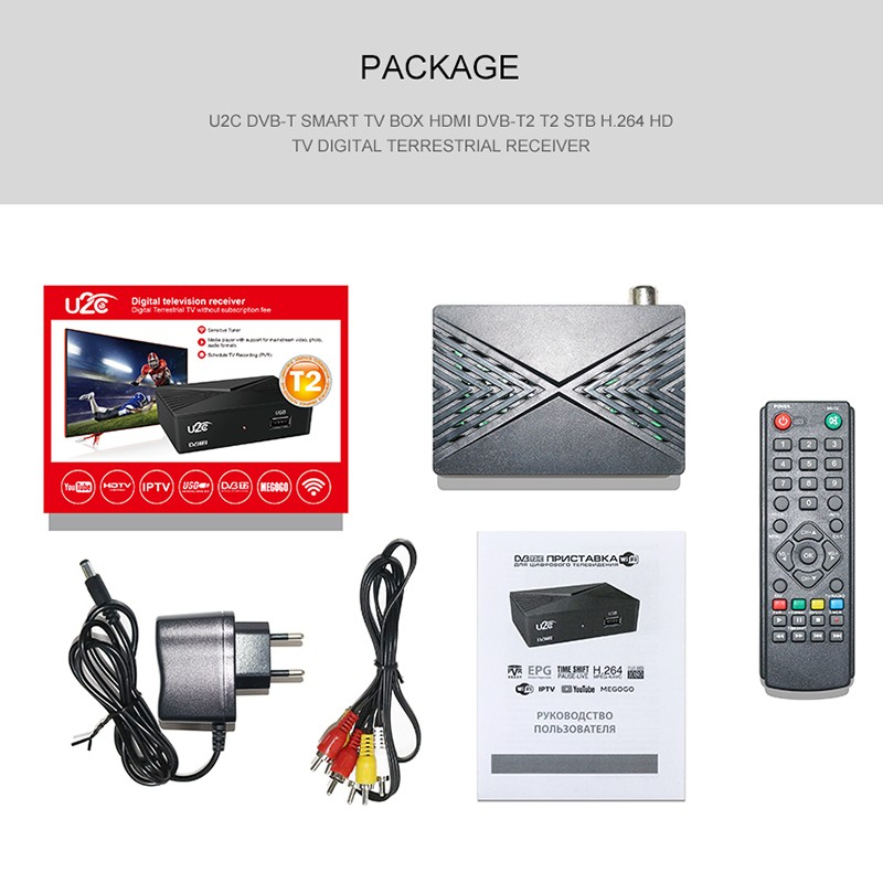 Details about 1080P DVB-T2 Smart Digital TV Box DVB-C Digital USB HDTV  Ground Signal Receiver