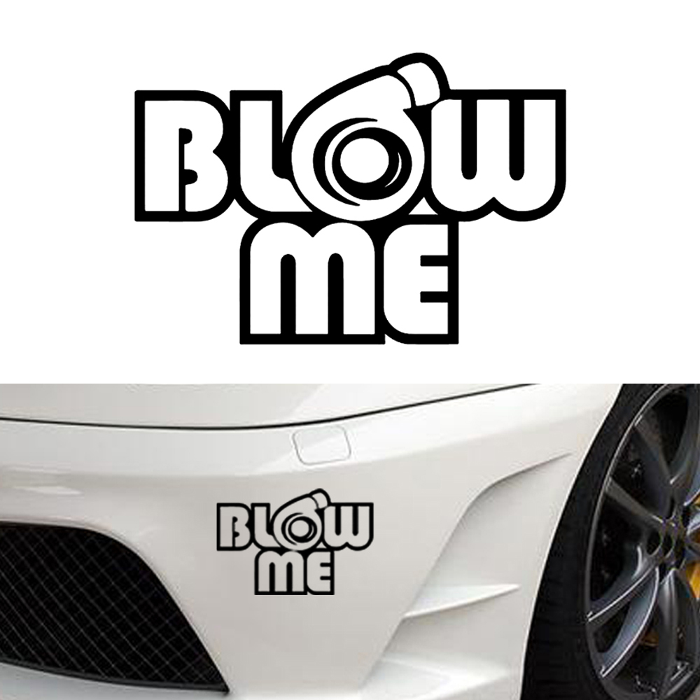 Details about blow me turbo decal funny car vinyl sticker euro jdm racing window decal illest