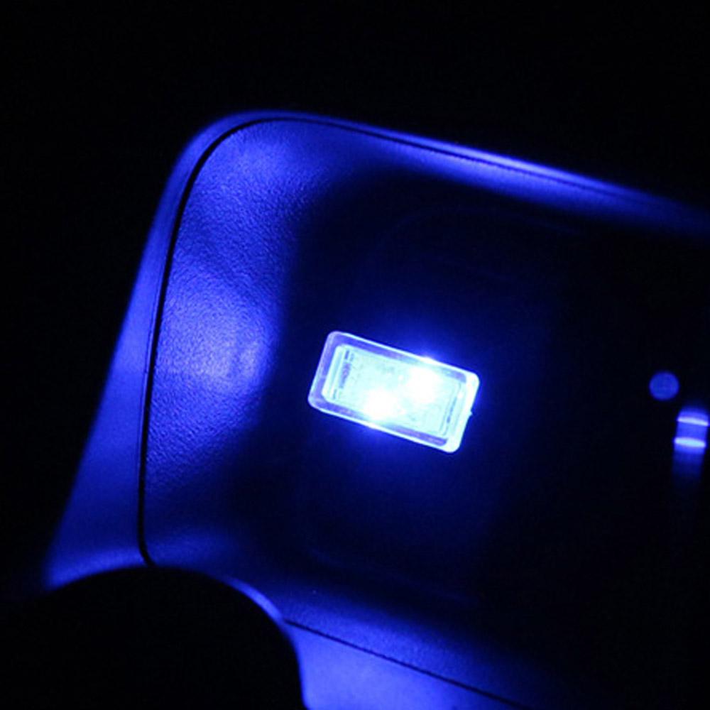 2Pcs Flexible mini usb led light colorful lamp for car atmosphere lamp bright TO