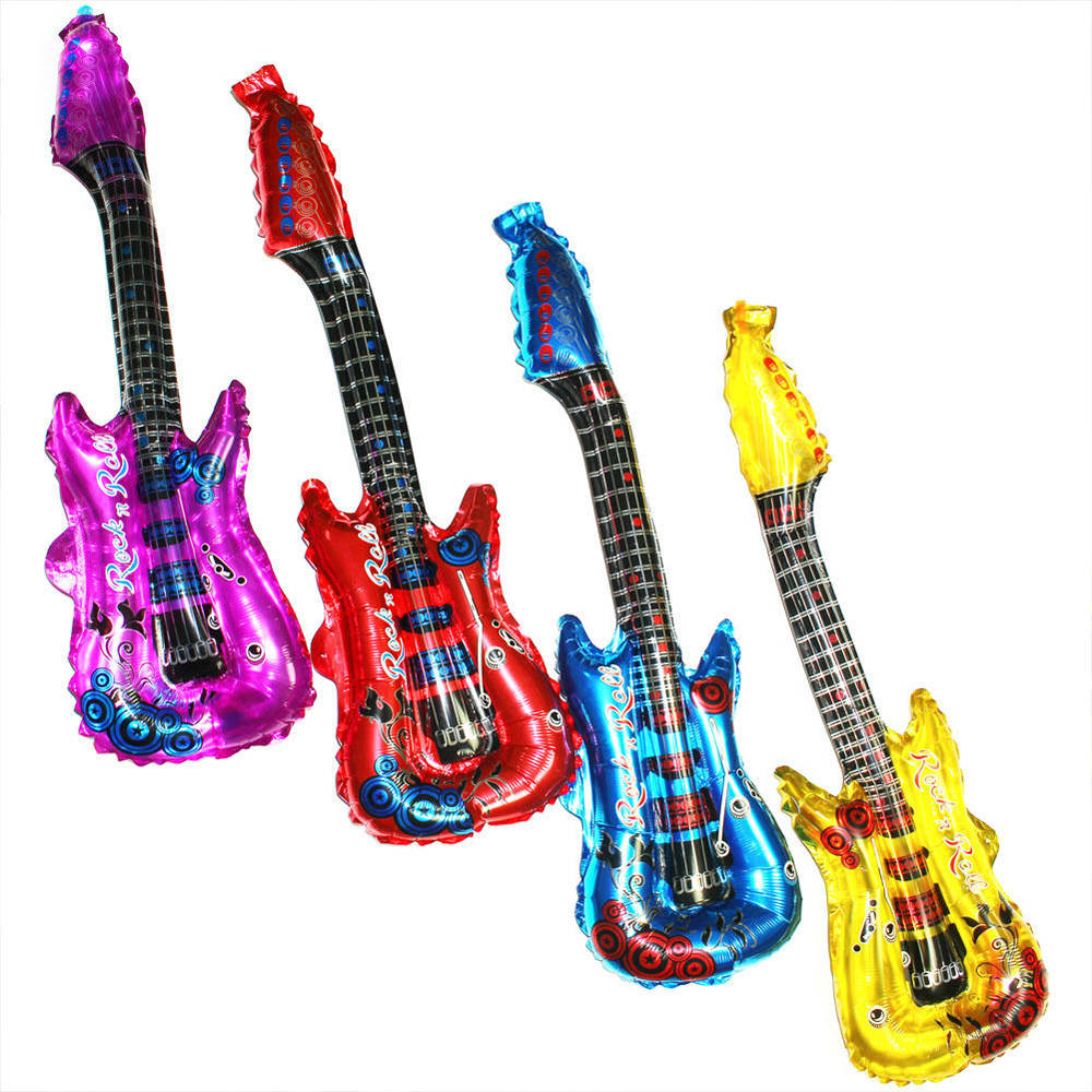 Music Useful PVC Blow Up Children Inflatable Rock Roll Guitar Beach Air Toy