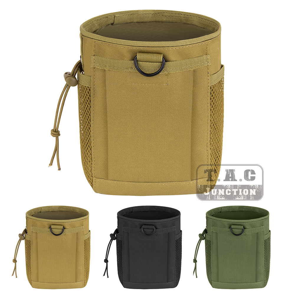Sporting Goods Tactical Dump Drop Mag Recovery Pouch Belt MOLLE Airsoft Utility Ammo Bag Mesh