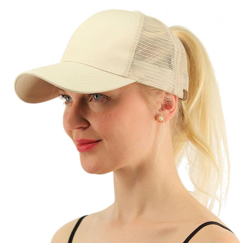 Unisex Mens Ladies Ponytail Baseball Cap Snapback Summer