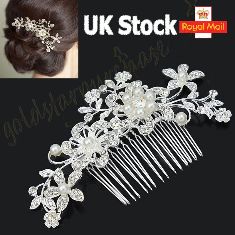 d9d9ff6fa97 You may also like. BRIDAL WEDDING CRYSTAL JEWEL DIAMANTE HAIR COMB HAIR  PIECE CLIP SLIDE FASCINATOR