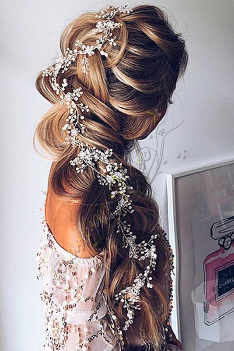 uk wedding hair accessories pearl bridal hair vine chain piece pins