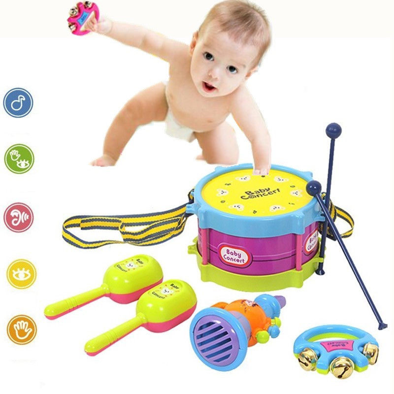 Musical Toys For Toddlers Boys : Pcs set baby kids drum boys girls musical educational