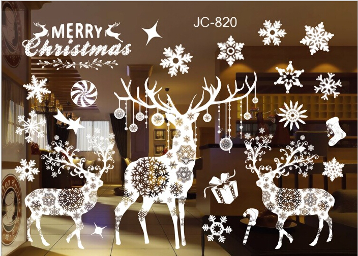 Christmas Santa Removable Window Stickers Art Decal Wall Home Shop - Window stickers for home uk