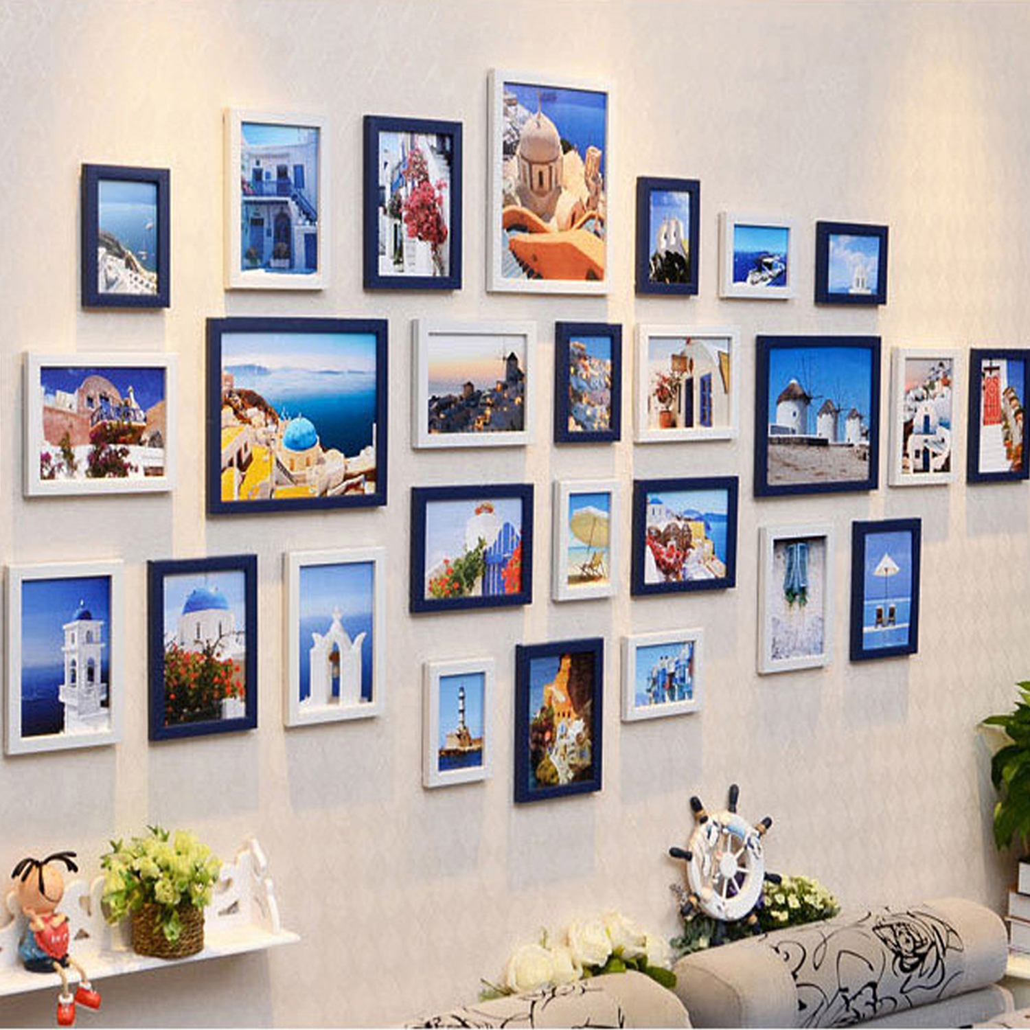 Set Of 1126 Multi Size Photo Picture Frame Set Home Décor Collage
